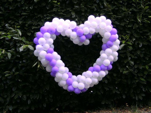 Addobbi per matrimoni a cuore - palloncini per matrimoni