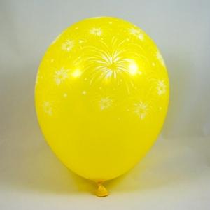 palloncini gialli con fuochi - decorazione vetrine di primavera