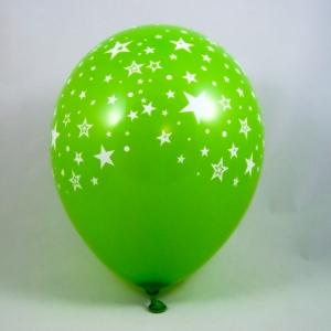 palloncini verdi con stelle - decorazione vetrine di primavera