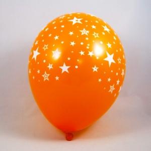 palloncini arancio con stelle - decorazione vetrine di primavera