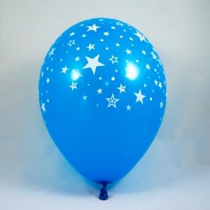 palloncini blu con stelle - decorazione vetrine di primavera