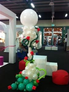 colonna di palloncini